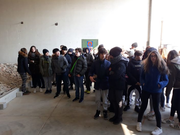 visita campo macerie scolaresca
